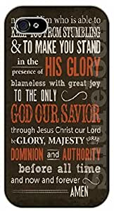 iPhone 5 / 5s Bible Verse - To the only God our Savor - black plastic case / Verses, Inspirational and Motivational