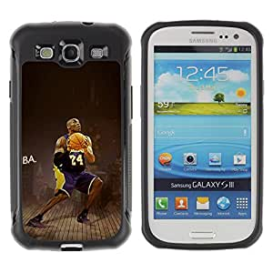 King Case@ Lakers 24 C Bryant Basketball Rugged hybrid Protection Impact Case Cover For S3 Case ,I9300 Case Cover ,I9308 case ,Leather for S3 ,S3 Leather Cover Case