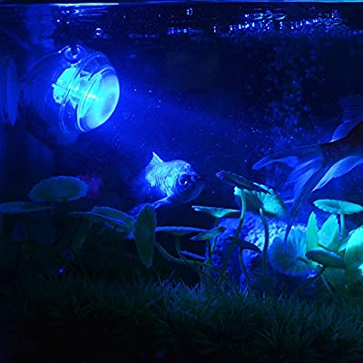 Hemgk Fish Tank Submersible Bubble Light Lamp, Aquarium Led Lamp Diving Spotlight, Light and Waterproof, Energy-Saving and High-Performing, for Coral Reef Tank, Underwater, Outdoor, Indoor : Garden & Outdoor