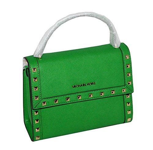 a7e60b8e49d9 MICHAEL Michael Kors Women's Dillon Studded Medium Messenger Leather  Handbag (Palm)