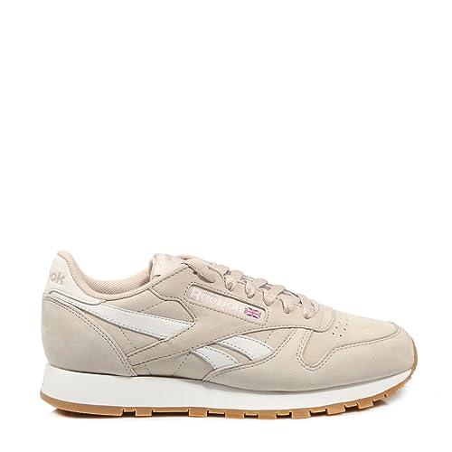 a4201b992e4 Reebok Cl Leather TL CN33997 Beige  Amazon.es  Zapatos y complementos
