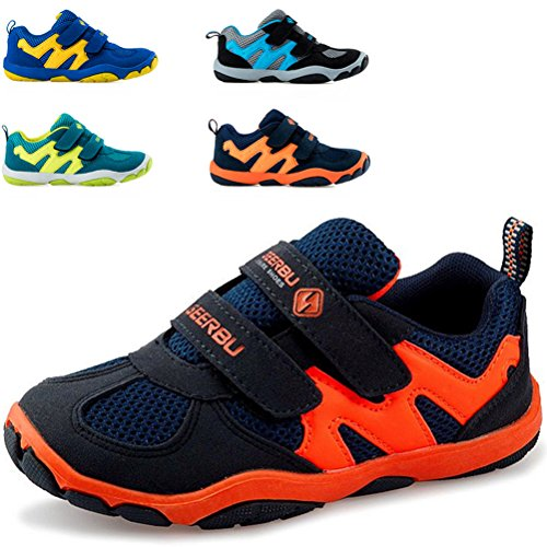 Dadawen Boys Leather Casual Outdoor Breathable Running Shoes Sneakers Toddler Little Kid Big Kid  Dark Blue Us Size 5 M Big Kid
