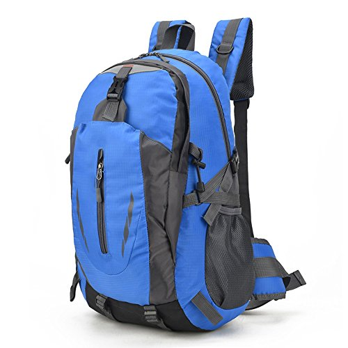 MMPY Large Capacity Lightweight Waterproof Backpack Outdoor Travel Mountaineering Bag Ultra Light Casual Bag (Color : Blue)