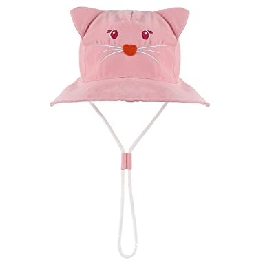 847fa285 Amazon.com: Baby Sun Hat - Toddler Kids UPF 50+ UV Ray Sun Protection Wide  Brim Bucket Swimwear Cute Animal Hats: Clothing