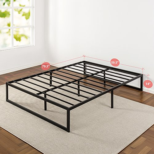 Zinus 14 Inch Metal Platform Bed Frame with Steel Slat Support, Mattress Foundation, Queen