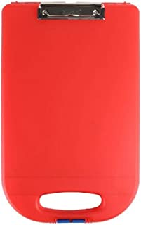 product image for Dexas Clipcase 2 Storage Clipboard with Rounded Handle, Red