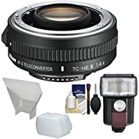 Nikon TC-14E III 1.4x AF-S Teleconverter with Flash & LED Video Light + Diffuser + Bounce Reflector + Kit