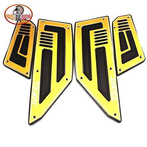 Frames & Fittings Motorcycle Footboard Cover Step Foot Footrest Footpegs Plate Pads for Yamaha TMAX530 TMAX 530 T-MAX 530 2012 2013 2014 2015 2016 - (Color: Gold)