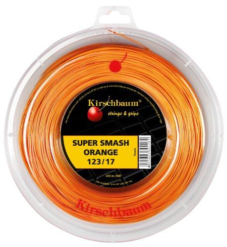 Kirschbaum Reel Super Smash Orange Tennis String, 1.23mm/17-Gauge, Orange