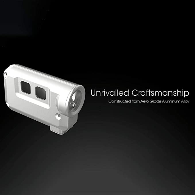 Super Brillante USB Recargable Llavero Linterna Linterna peque/ña 380 Lumensc iBellete Nitecore TINI Llavero Linterna