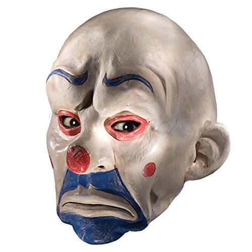 Rubie's Costume Batman The Dark Knight Adult Joker Latex Clown Mask, White, One -