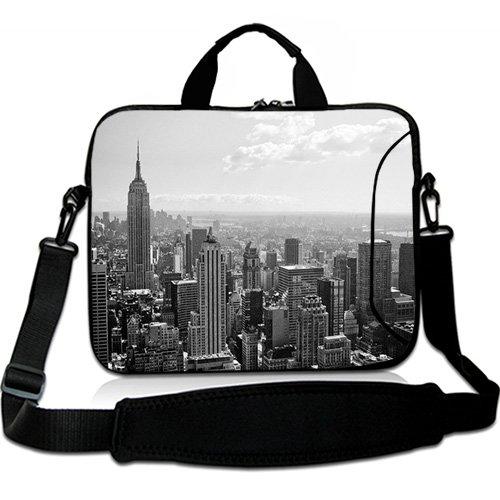 New York Slim Briefcase - Wondertify 13-13.3 Inch Water-Resistant Neoprene Laptop Shoulder Bag Sleeve Briefcase - Cityscape New York Laptop Carrying Bag Case Cover for MacBook Air/Pro/Laptop/Ultrabook/Notebook/Men/Women