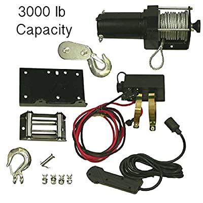 New 3000lb Winch Assembly Fits Honda Bombardier Polaris Utv Atv 77-38-10901 773810901 Win0011 10901 Rw00701