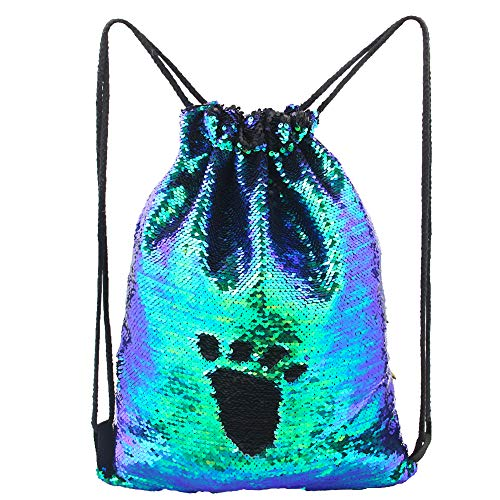 - MHJY Mermaid Bag Sequin Drawstring Backpack Dancing Bag Fashion Dance Bag Sequin Backpack Flip Sequin Bling Bag for Beach Hiking Bags
