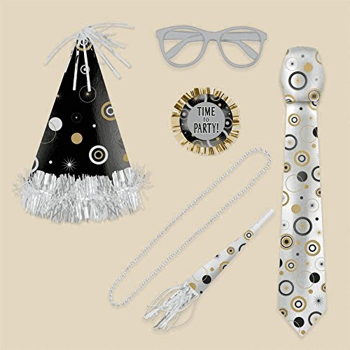 6 Piece Wearable Party Kit For Him (Hora Loca Supplies)