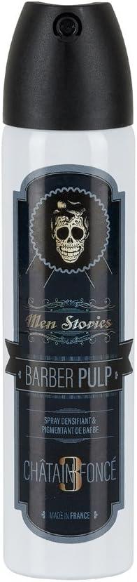 Men Stories Barber Pulp - Tinte de barba en espray, castaño oscuro, 75 ml