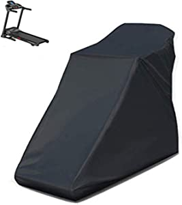Iptienda Treadmill Cover, Dustproof Waterproof Protective Cover Universal Fit Non-Folding Running Machine Perfect for Indoor or Outdoor Use((Black,78 x 37 x 59 inch)