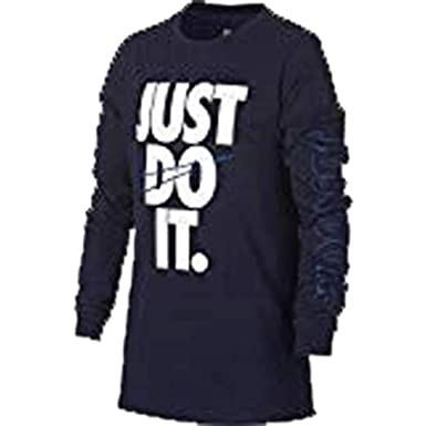 c14657b2 Image Unavailable. Image not available for. Color: Nike B NSW TEE LS JDI  Swoosh Boys' Long Sleeve ...