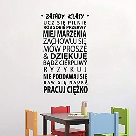 Polski Zasady Klasy Cytaty Naklej Vinilo Mural Arte De La