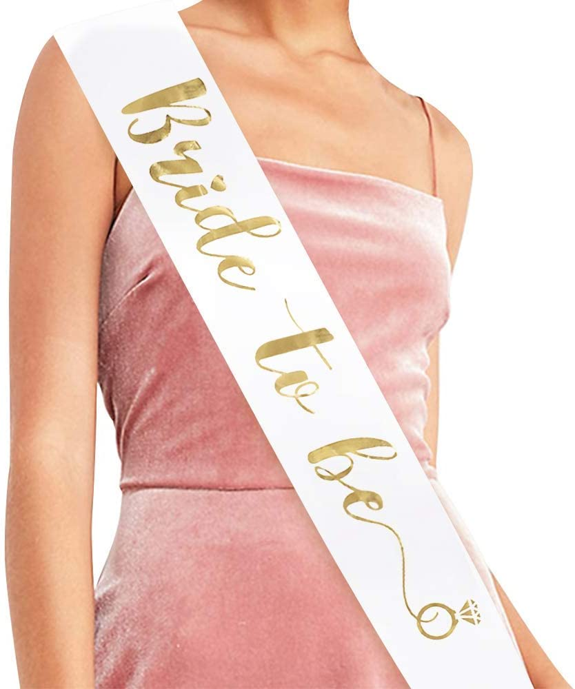 Fashion Hot Pink Bride to be Sash Hen Night Bachelorette Bridal Shower Party 1x