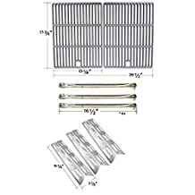 Repair Kit For Perfect Flame SLG2007B, 63033, SLG2007BN, 64876 BBQ Gas Grill Includes 3 Stainless Burners, 3 Stainless Heat Plates and Cast Iron Cooking Grates