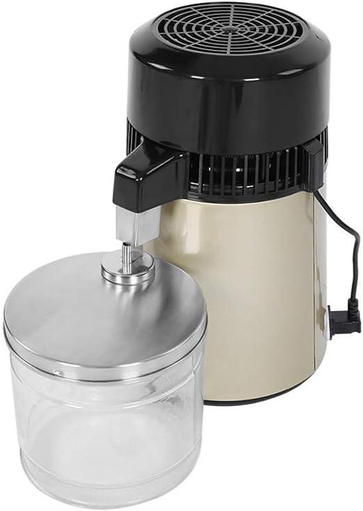 YLOVOW Labs El Mejor destilador de Agua de Acero Inoxidable en su Clase con Jarra de Vidrio, destilador de Agua de encimera Filtro purificador de Acero Inoxidable 750W con Mango: Amazon.es: Hogar