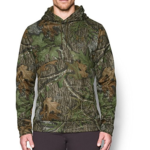 Under Armour Men's Storm Camo Hoodie, Mossy Oak Obsession/Saddle, Large