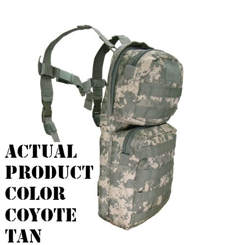 Condor HCB2 Tactical Hydration Carrier MOLLE Day Pack with Bladder - Coyote Tan by Condor Outdoor Tactical Hydration Carrier