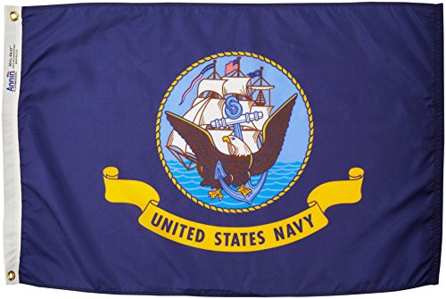 Us Navy Flags Pennants (Annin Flagmakers 439029 U.S. Navy Military Flag, 2 x)