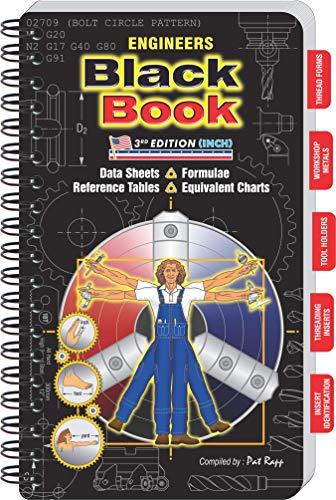 Engineers Black Book - 3rd Edition Inch. Machinist Reference Manual (Large Print Edition) (Engineer Black Book)
