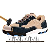 AiChuang Unisex Fashion Steel Toe Shoes Durable Breathable Anti-Smashing Safety Shoes (5, zx12)
