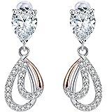 J. Rosée Long SterlingSilver Droplet Earrings, Original Mother's Day Gift