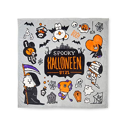 Stageya BTS Bangtan Boys Halloween Double-Sided Print Nap Blanket TATA for Women Gifts