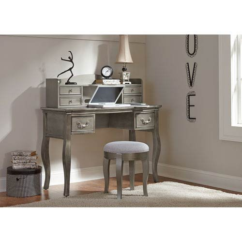 Hillsdale Kids and Teens 30540NDH Kensington Writing Desk with Hutch, Antique Silver