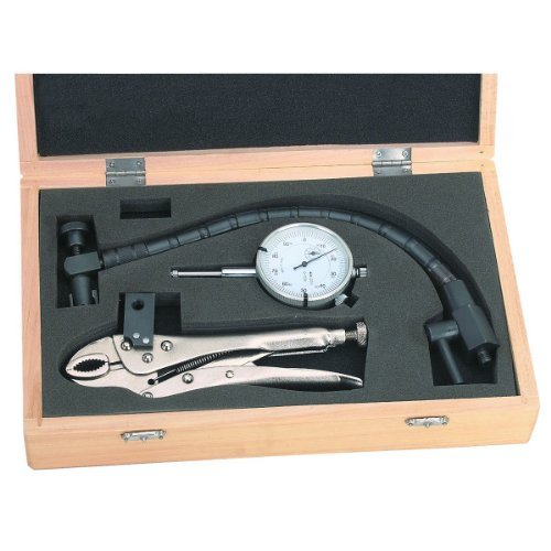 Clamping Dial Indicator with Wood Storage Case ()