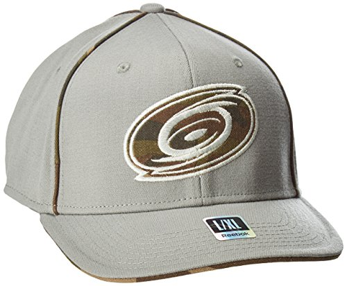 fan products of NHL Carolina Hurricanes Men's SP17 Gray Camo Structured Flex Cap, Gray, Large/X-Large