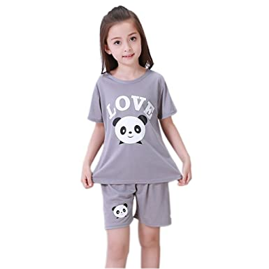 330d63f3ccecf YUEGUANG 子供 パジャマ キッズ Tシャツ   パンツ 上下 2点セット 半袖 春夏 かわいい