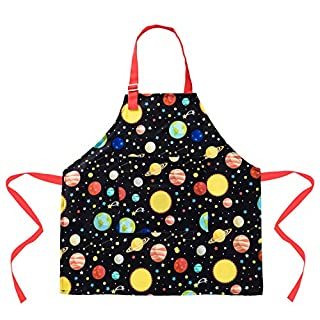 Aprons for Kids Girls Dinosaur Apron with Pockets for Children Kichen Chef Apron