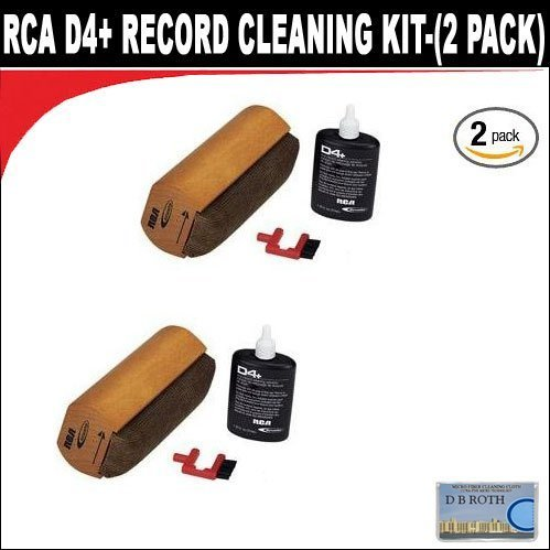 RCA D4+ Record Cleaning Kit-(2 PACK)