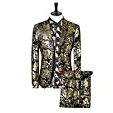 Cloudstyle Men's Dress Suit Single-Breasted 2 Pieces Slim Fit 2 Buttons Suits