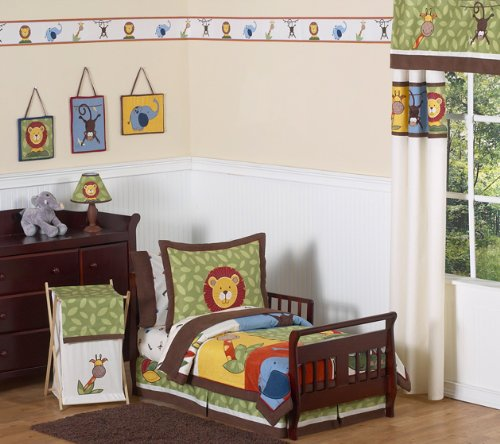 Jungle Time Kids Toddler Boy Bedding 5 Piece Set