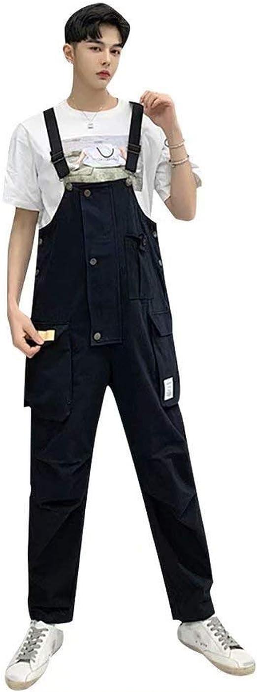 [ウンセン] メンズ オーバーオール 作業服 ビッグシルエット ワークパンツ ペインター ロング ストリート 原宿風 大きいサイズ 男女兼用 繋ぎ ファッション オシャレ