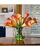 Calla Lily Silk Centerpiece - Orange