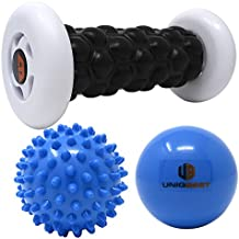 Plantar Fasciitis Foot Recovery bundle set for sport men women include Foot Massager foam Roller 2 cold Massage Balls 1 carrying bag for Arch Pain Relief,heel spurs,Trigger point Therapy