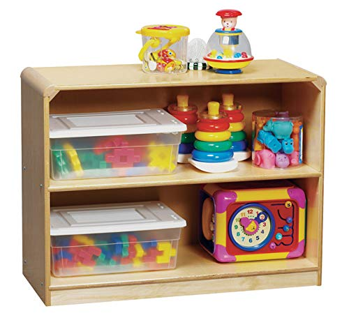 Korners for Kids 272164 Storage Cabinet, All-Birch Veneer Panel, 4-Coat UV Acrylic, 2 Shelf, 24-5/8'' x 13-3/4'' x 32-1/2'', Natural Wood Tone by Korners for Kids
