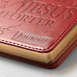 Christian Art Gifts Burgundy Faux Leather Journal | Names Of Jesus | Handy-sized Flexcover Inspirational Notebook w/Ribbon Marker, 240 Lined Pages, Gilt Edges, 5.5 x 7 Inches