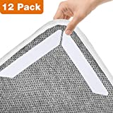 #10: Rug Gripper, 12 pcs Rug Grippers Pads - Non Slip Renewable Washable Carpet Tape for Hardwood Floors, Carpets, Area Rugs and Mats, Anti Skid Gripper Keep Carpet and Mat Corners Flat