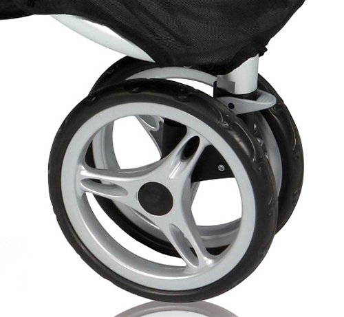 Double Stroller Swivel Front Wheel - 1
