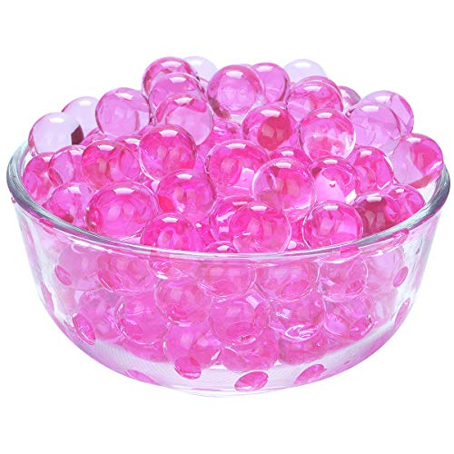 LOVOUS 3000 Pcs Water Beads, Crystal Soil Water Bead Gel, Wedding Decoration Vase Filler - Furniture Decorative Vase Filler, All Occasion Table Centerpiece Decorations (Rose)