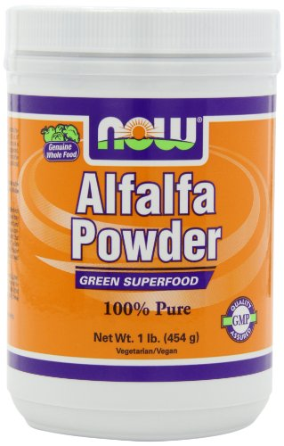 NOW Alfalfa, 1-Pound (Pack of 2) (Powder Alfalfa Juice)